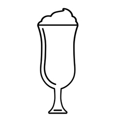 ice cup beverage isolated icon vector image vector image
