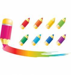 Icons pencils vector