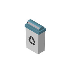 isolated trash bin isometric garbage container vector image