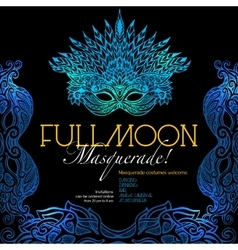 Masquerade ball poster vector