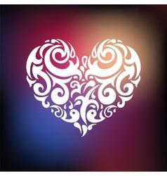 Ornamental heart love vector