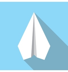 Paper Plane Flat Icon Paper Origami Airplane vector image