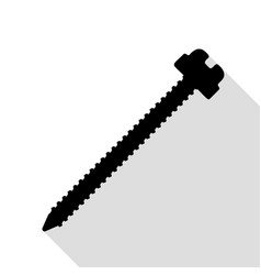 screw sign black icon with flat vector image vector image