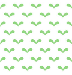 Seamless abstract green leaves pattern on white vector