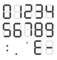 set of calculator digital numbers electronic vector image