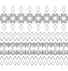Set of filigree patterned brushes vector image