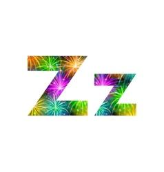 Set of letters firework Z vector image vector image