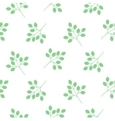 Small leaves seamless pattern vector