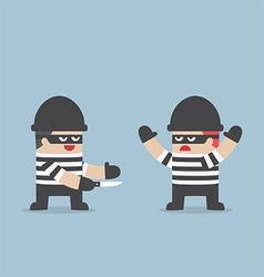 The thief betray his friend vector