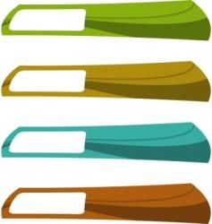 vector color banner set vector image vector image