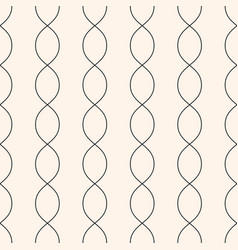 Vertical wavy lines seamless pattern curved lines vector