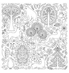 Wonderland Fun Forest vector image vector image