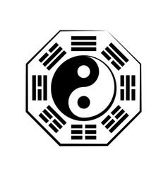 Yin yang duality and ba-gua 8 trigrams vector