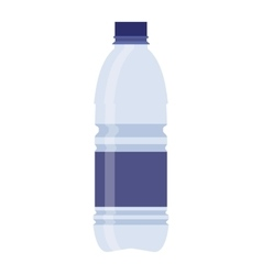 Plastic recycled blue water bottle vector