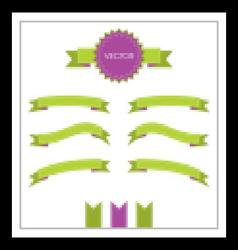 Decorative ribbons scrapbooking style with seams vector