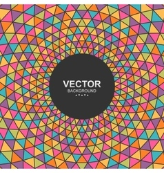 Abstract colorful triangle background with place vector image