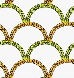 Artistic color brushed green orange arched braids vector