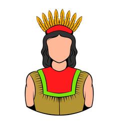 american indian icon icon cartoon vector image