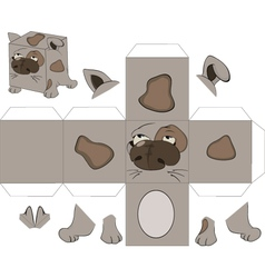A dog cube toy for assemblage vector