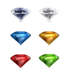 Gems set of icons vector image