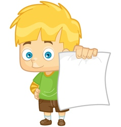 Kid boy school test paper vector