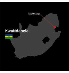 Detailed map of kwandebele and capital city vector