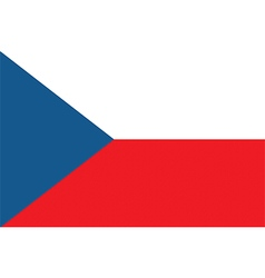 Flag of the czech republic vector