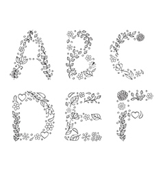 Hand drawn letters on white background vector