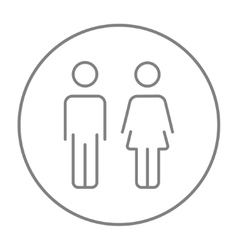 Couple line icon vector