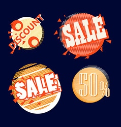 Different shopping tags collection Design template vector image