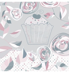 Vintage birthday card vector