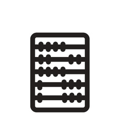 Flat icon in black and white abacus vector