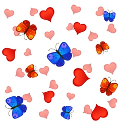 Love and butterfies vector