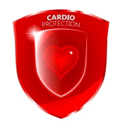 Cardio health protection shield symbol vector