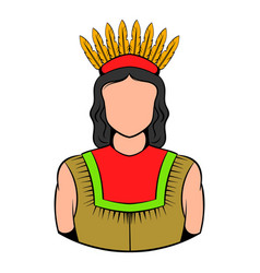 American indian icon icon cartoon vector