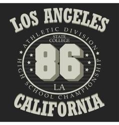 California T-shirt fashion vector image