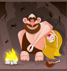 Cavemen family vector