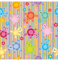 children's animal pattern vector image vector image
