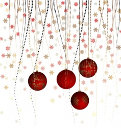 Christmas ball with curly ribbon vector