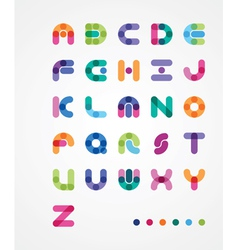 Colorful abstract font vector