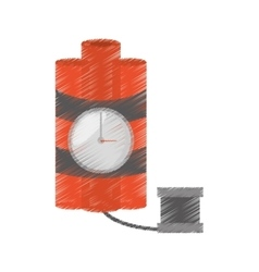 Drawing dynamite sticks mining clock cable vector