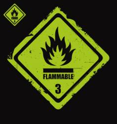 flammable sign grunge vector image