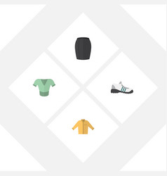 Flat garment set of stylish apparel casual vector