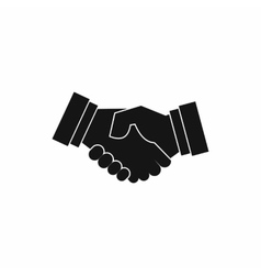 Handshake icon in simple style vector image vector image