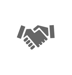handshake icon on a white background vector image