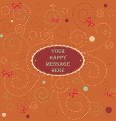 Happy message vector