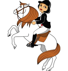 Horse riding vector image vector image