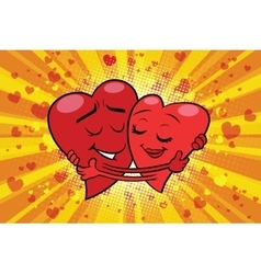 Hug couple love Valentine vector image vector image