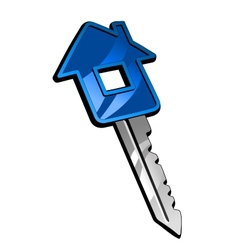 Key with house vector image vector image