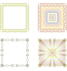 lace frame vector image vector image